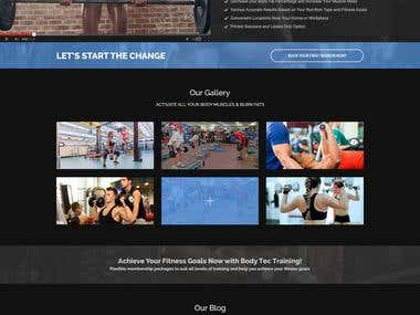 Bodytech Website