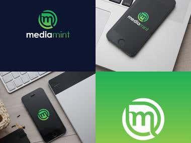 mediamint logo and branding design