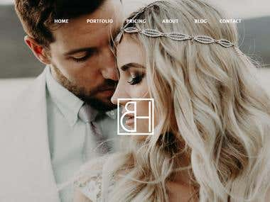 Wedding Photography Website