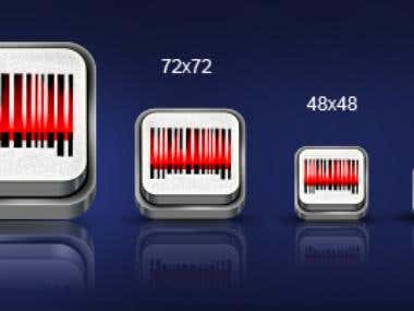 Bar code reader app icon