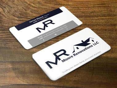 Moore Renovations LLC Business Card Design