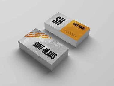 Smit-Heads Business Card Design