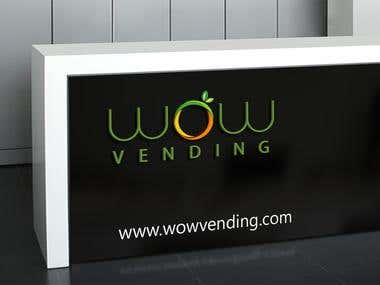 WoW Vending Logo Design