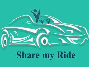 logo for share my ride application