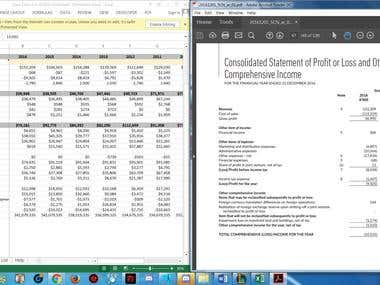 Filling finance data foro total of 40 companies for 10 years