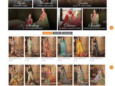 eCommerce Website for saree store