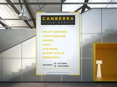 Poster CANBERRA Style Market