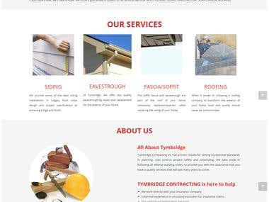 Tymbridge Contracting Inc Website Design and Development