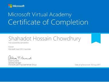 Microsoft Excel 2013 Essentials Certificate