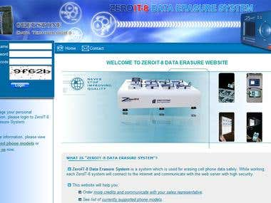 Phone Data Erasing Website