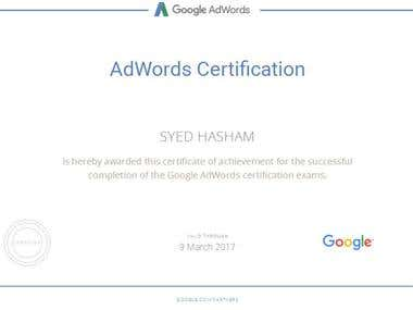 My Google Adwords Certification