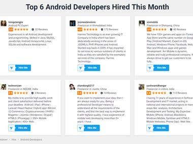 Top Android developers