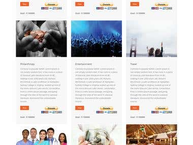 crowdfunding website in PHP