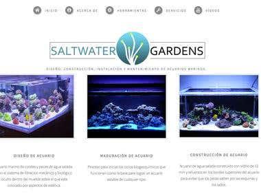 Salt Water Gardens Website and Mobile App