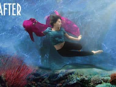 Underwater Collage.