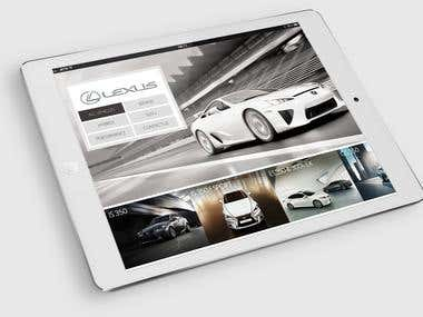 Lexus iPad app (2012/2013) Virtual Showroom
