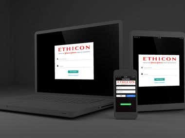Ethicon web system