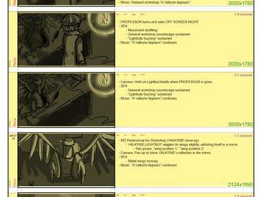 Ghostlight Manor Ending Cinematic Storyboard