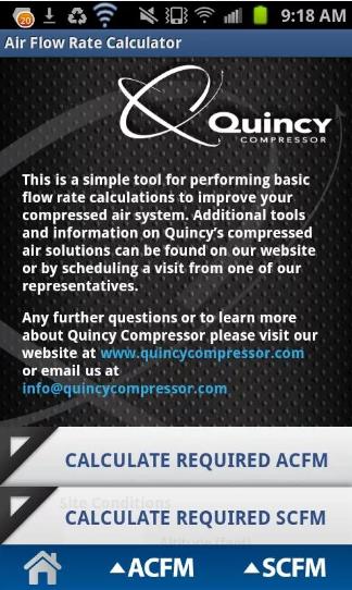 Quincy Compressor Flow Rate
