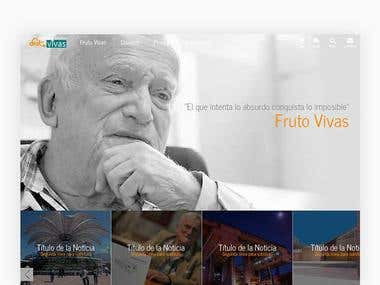 FRUTO VIVAS | WEBSITE UI DESIGN, BRANDING
