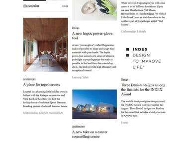 Danish Magazine Website