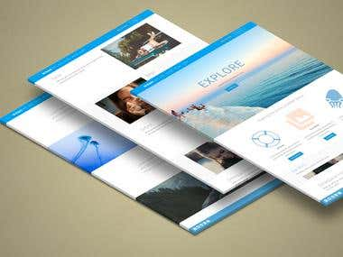 Design a full site and download it from PSD to WordPress and