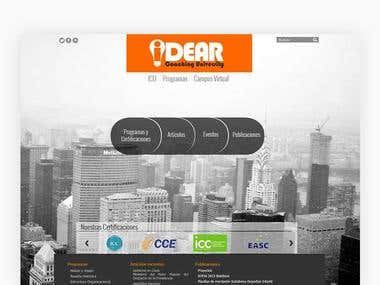 IDEAR | WEBSITE UI DESIGN