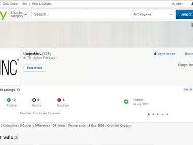 eBay Seller Profile