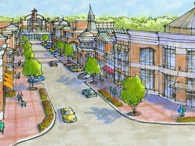 Town Center near Baltimore