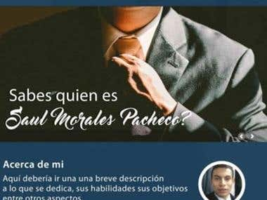 Sitio web para el freelancer Saul Morales Pacheco