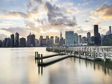 NYC Skyline from Gantry Plaza State Park