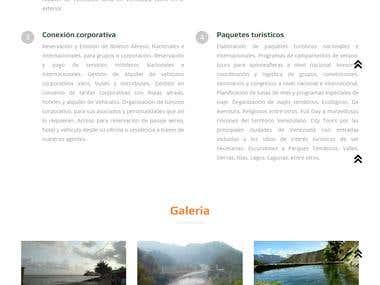Sitio web para empresa de turismo Xsport