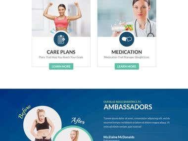 Blue Ridge Website Hompe Page Design