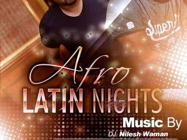 Flyer For Afro Latin Nights
