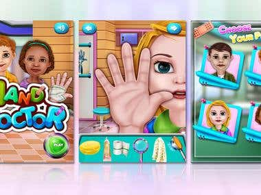 Hand Doctor Game Illustration