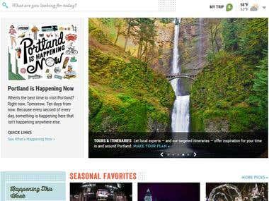 Travel Portland WordPress website