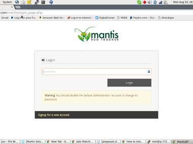 Mantts Bug tracker on Centos7