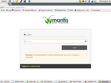 Mantts Bug tracker on Centos7