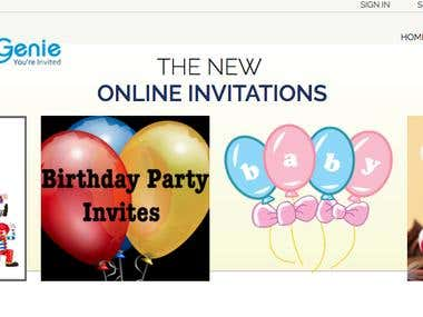 Online digital invites using email to distribute your invite
