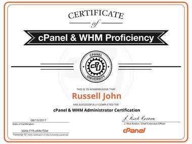 cPanel & WHM Administrator Certification (CWA)