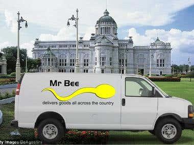 Mr BEE car banner