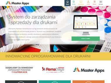 Zaprojektowanie i wdrożenie strony-wizytówki Masterapps.pl