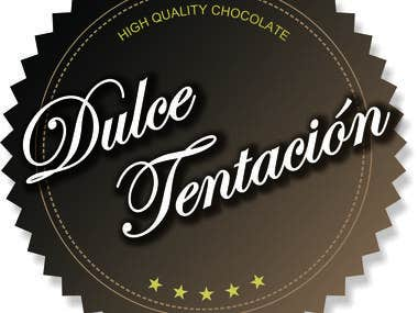Logo for high quality chocolate factory Dulce Tentación