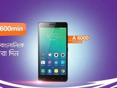 Web BAnner For Banglalink Website