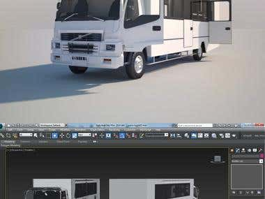 Truck low poly modeling