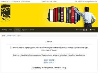 Projekt + wdrożenie aplikacji internetowej dzielodruk.com