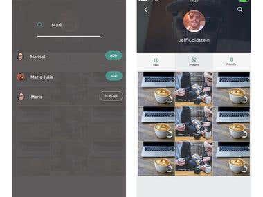 Mockup for mobile app