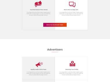 Bootstrap single page website