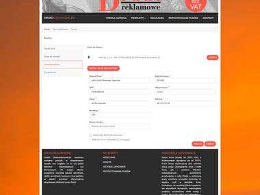 Projektowanie oraz wdrażanie web-aplikacji DrukiReklamowe.eu