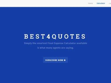 Best4quotes Website Development